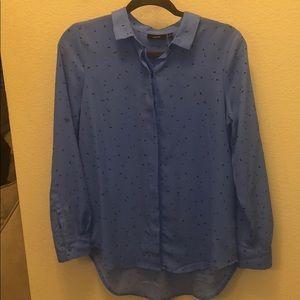 Blue/Lavender Long sleeve Dress shirt